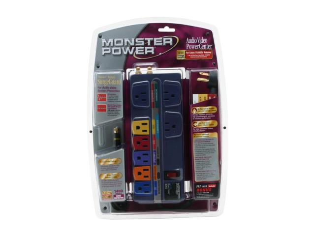 Monster - Audio/Video PowerCenter w/ Surge Protection (AV-800)