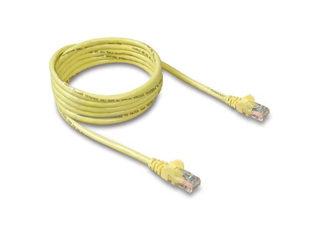 BELKIN A3L791-25-YLW-S 25 ft. Cat 5E Yellow Color Network Cable -Snagless Molded