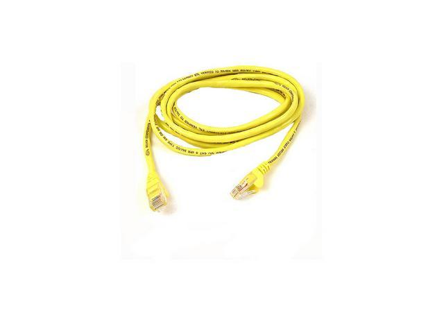BELKIN A3X189-07-YLW-S 7 ft. Cat 6 (Crossover) Yellow Color Snagless Network Cable