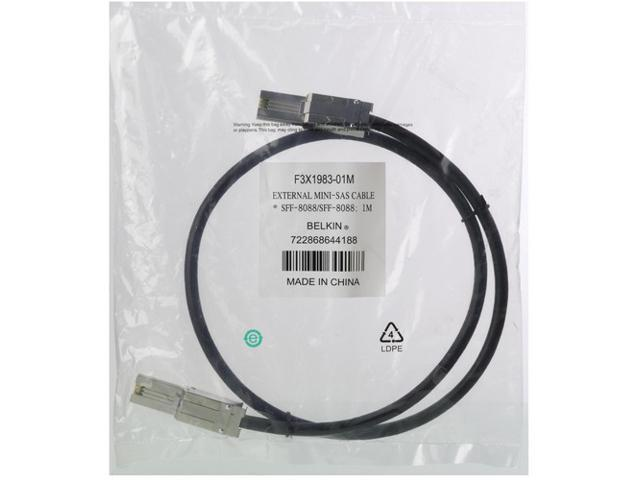 Belkin Model F3X1983-01M 1m External Mini SAS Cable