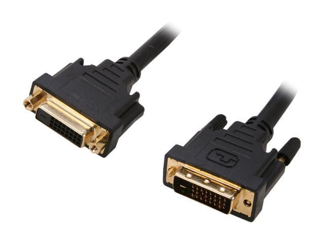 Link Depot Model DVI-10-DD-MF Black 10 ft. DVI-D male to DVI-D female Cable, Black