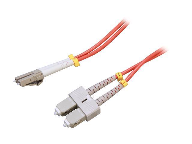 Link Depot FOM5-LCSC-1 3.28 ft. (1m) 10 Gb Multimode 50/125 Duplex LSZH Fiber Patch Cable LC - SC
