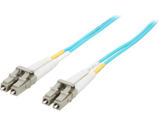 SIIG CB-FE0L11-S1 6.56 ft. (2m) 10 Gb Aqua Multimode 50/125 Duplex Fiber Patch Cable LC/LC