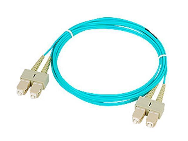 SIIG CB-FE0N11-S1 6.56 ft. (2m) 10 Gb Aqua Multimode 50/125 Duplex Fiber Patch Cable SC/SC