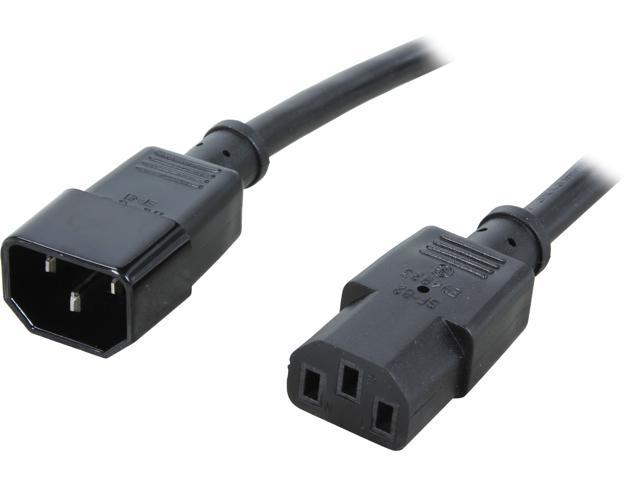 C2G Model 29934 8 ft. 16 AWG 250 Volt Computer Power Extension Cord (IEC320C14 to IEC320C13) M-F