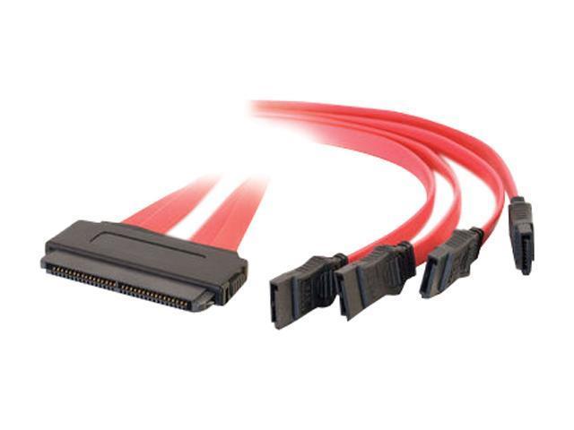 C2G Model 10249 3.28 ft. SAS 32-pin to Four SATA Cable