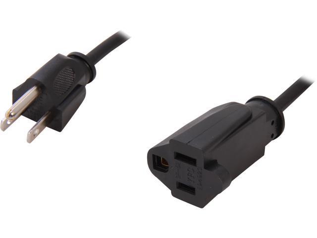 C2G Model 03117 15 ft. 18 AWG Outlet Saver Power Extension Cord (NEMA 5-15P to NEMA 5-15R) F-M