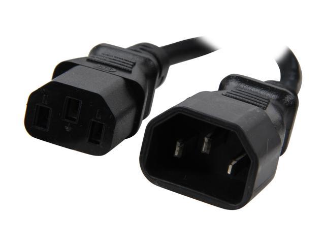 C2G Model 53407 12 ft. 18 AWG Computer Power Extension Cord (IEC320C14 to IEC320C13) F-M