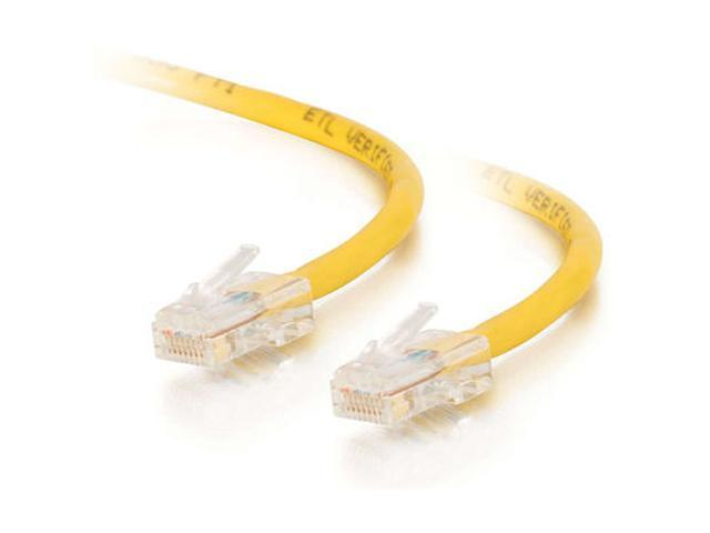 C2G 26696 25ft Cat5E 350 MHz Crossover Patch Cable - Yellow