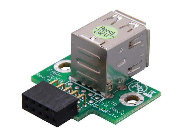 StarTech USBMBADAPT2 2 Port USB Motherboard Header Adapter