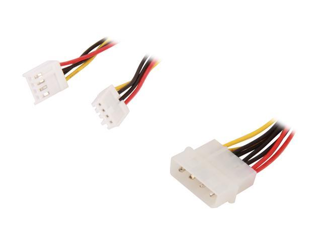 StarTech PYO2S LP4 to 2 x SP4 Power Y Splitter Cable M/F