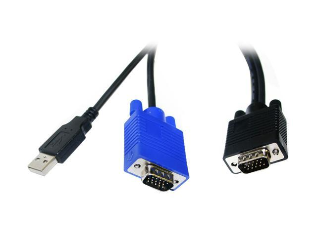 LINKSKEY 6 ft. USB-VGA KVM Combo Cable C-KVM-SU6