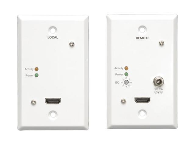 Tripp Lite HDMI over Dual Cat6 60Hz Wallplate Extender Kit B12510160WP