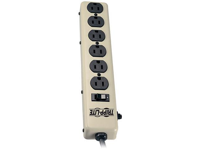 TRIPP LITE 6NX6 6 Outlets Power Strip 120V Input Voltage 6 Feet Cord Length