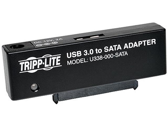 Tripp Lite U338-000-SATA USB 3.0 SuperSpeed to SATA III Adapter for 2.5in or 3.5in SATA Hard Drives