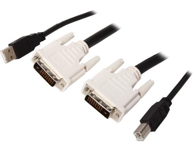 C2G 10 ft DVI Dual Link + USB 2.0 KVM Cable 14178