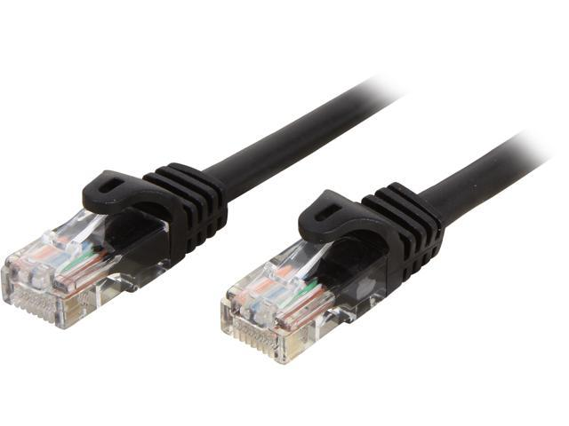 StarTech 45PATCH3BK 3 ft. Cat 5E Black Color Cat. 5E UTP Patch Cable