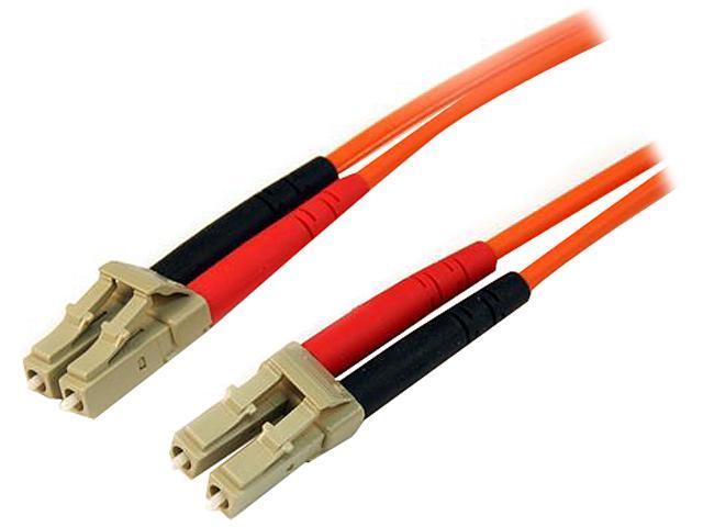 StarTech 50FIBLCLC5 16.4 ft. Multimode 50/125 Duplex Fiber Patch Cable LC - LC