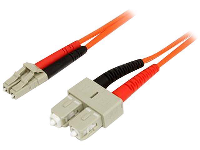 StarTech 50FIBLCSC5 16.4 ft. Multimode 50/125 Duplex Fiber Patch Cable SC