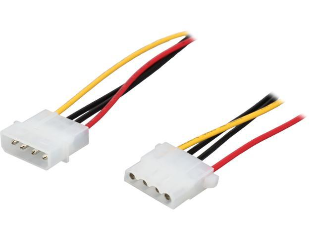 StarTech Model LP4POWEXT12 12in Molex LP4 Power Extension Cable – M/F M-F