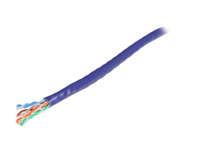 Coboc CY-CAT6-1K(CM)-ST-PR 1000ft. 24AWG Cat 6 Purple Color 550MHz UTP Stranded Copper Bulk Ethernet Network lan Cable