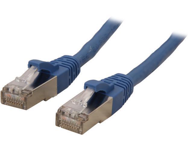 Coboc CY-CAT6A-STP-05-BL 5ft.26AWG Snagless Cat 6A Blue Color 550MHz SSTP(PIMF) Shielded Ethernet Stranded Copper Patch cord /Molded Network lan ...
