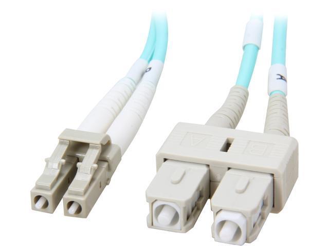 Coboc CY-OM3-LC/SC-10 32.81 ft. 10Gb Aqua Multimode 50/125 Duplex LSZH Fiber Patch Cable LC - SC,M-M