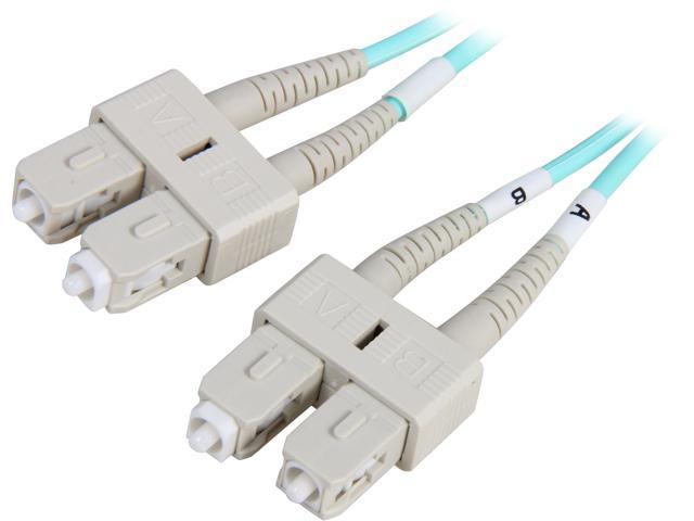 Coboc CY-OM3-SC/SC-1 3.28 ft. 10Gb Aqua Multimode 50/125 Duplex LSZH Fiber Patch Cable SC - SC,M-M