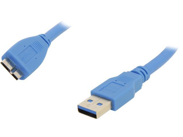 Coboc CY-U3-AMicBMM-3-BL 3ft SuperSpeed 5Gbps USB 3.0 A Male to Micro B Male Cable,Gold Plated,Blue,M-M