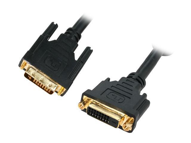 Kaybles 6ft Model DVI-DD-6MF Black 6 ft. M-F Premium DVI Digital Dual-Link Extension Cable with Ferrites M/F 6 feet - OEM