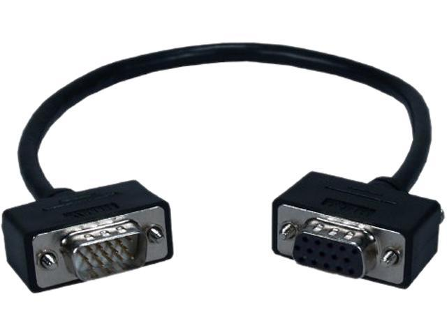 QVS CC388M1-1.5 1.5 ft. High Performance UltraThin VGA/QXGA HDTV/HD15 Male to Male Tri-Shield Fully-Wired Cable