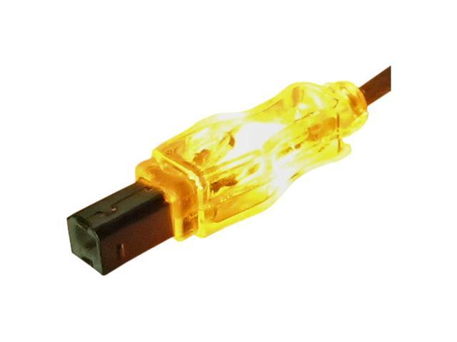 QVS CC2209C-06ORL 6feet Translucent Orange Translucent Orange USB Cable with LEDs