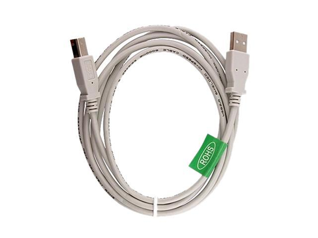 Insten 675362 6 ft. White USB 2.0 Cable (2 pack)