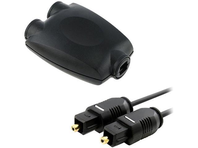Insten 528247 Optical Audio Splitter Adapter w/ Digital Optical Audio TosLink Cable