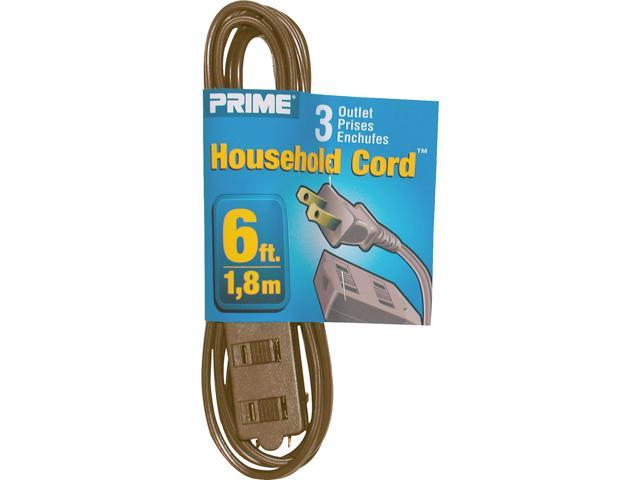 Prime Wire Model EC670606 6 Feet 16/2 SPT-2 3-Outlet Indoor Cord