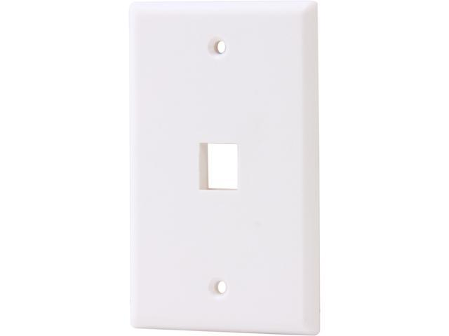 Nippon Labs WP-1WH Wall Plate for Keystone Insert, 1 Hole, Color White - OEM