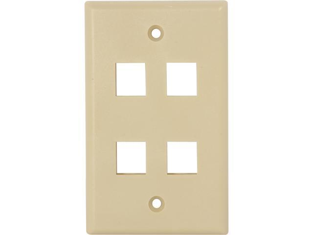 Nippon Labs WP-4IV Wall Plate for Keystone Insert, 4 Hole, Color Ivory - OEM