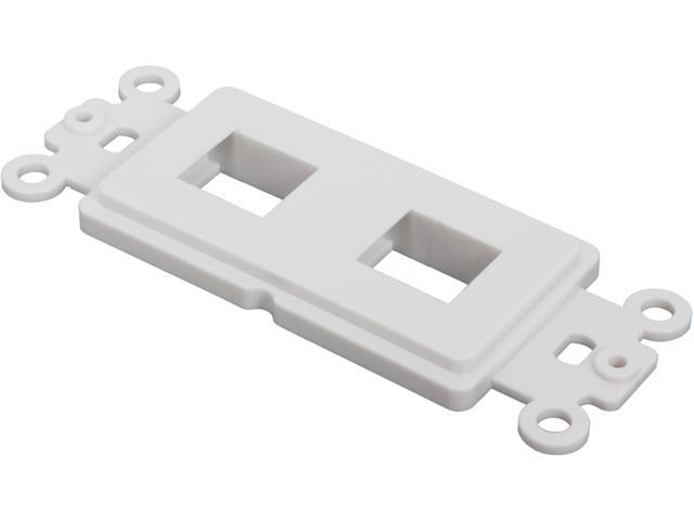 Nippon Labs WP-D2WH Decorator Wall Plate, 2 Hole, White Color - OEM