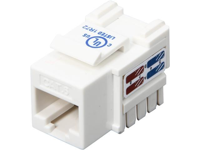 StarTech C6KEY110WH Cat6 RJ45 Keystone Jack White - 110 Type
