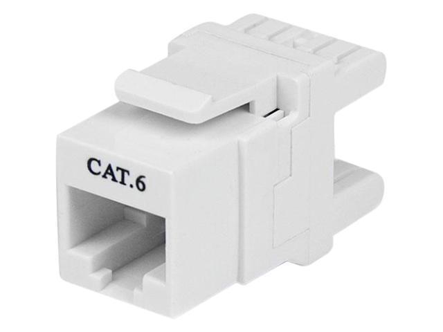 StarTech.com 180? Cat 6 Keystone Jack - RJ45 Ethernet Cat6 Wall Jack White - 110 Type