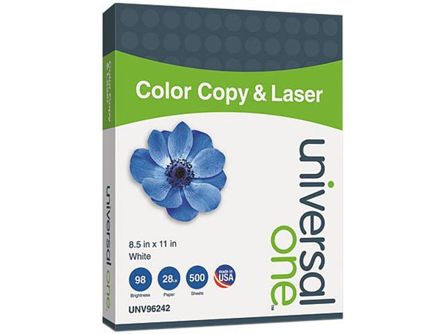 Universal Color Copy/Laser Paper, 98 Brightness, 28lb, 8-1/2 x 11, White, 500 Sheets/Ream