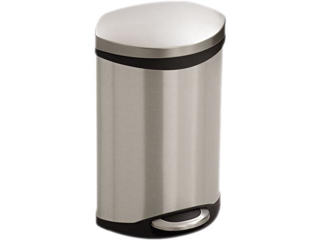 Safco 9901SS Step-On - 3 Gallon 12wx8.5dx17H Stainless Steel