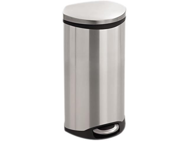 Safco 9902SS Step-On - 7.5 Gallon 15wx13.5dx26.5H Stainless Steel