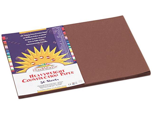 Construction Paper, 58 Lbs., 12 X 18, Dark Brown, 50 Sheets/Pack