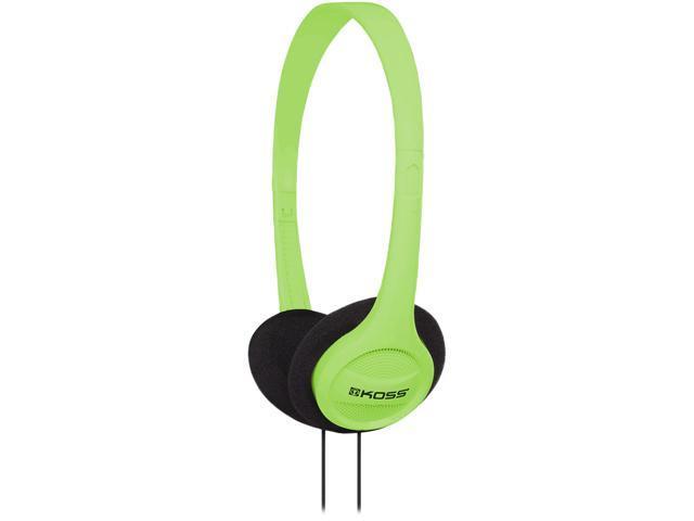Green Portable On-Ear Headphone with Adjustable Headband