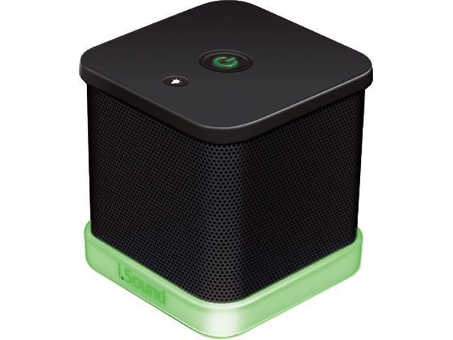ISOUND ISOUND-6205 iGlowSound Cube Wired Portable Speaker (Black)