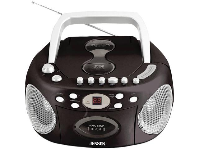 JENSEN CD-540 Portable Stereo Compact Disc Cassette Recorder with AM/FM Radio