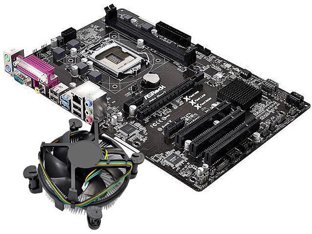 ASRock H81 MB and Intel Pentium G3240 3.1GHz  Combo Fan Cooling