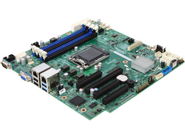 Intel DBS1200V3RPL uATX Server Motherboard LGA 1150 DDR3 1600