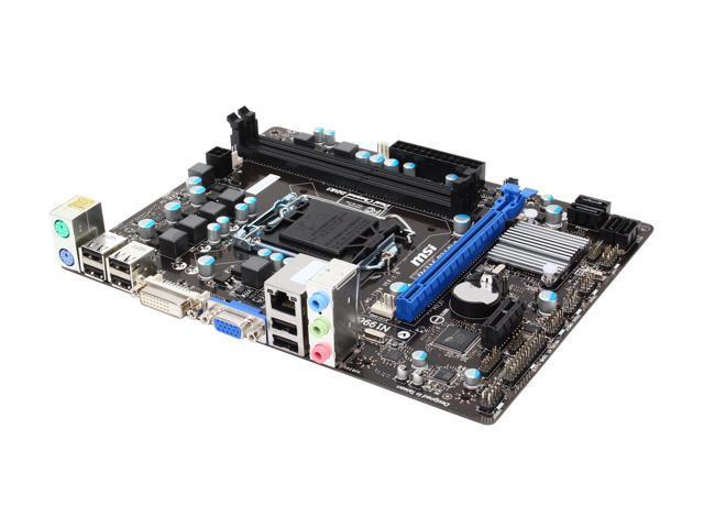 MSI H61M-P31/W8 LGA 1155 Intel H61 Micro ATX Intel Motherboard with UEFI BIOS